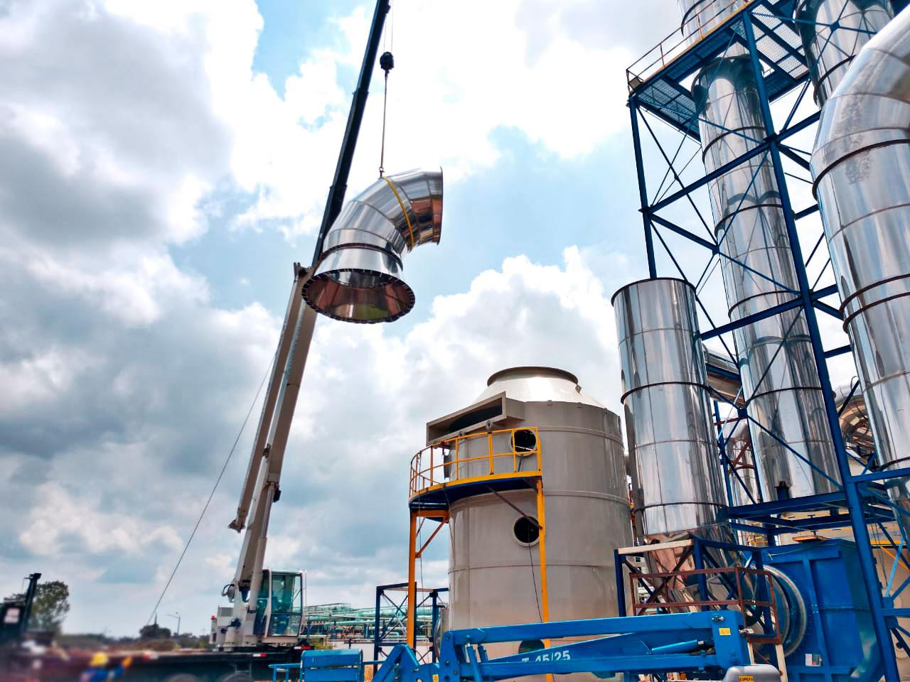 La calidad del montaje de los sistemas de extracción industrial de MCAT es insuperable