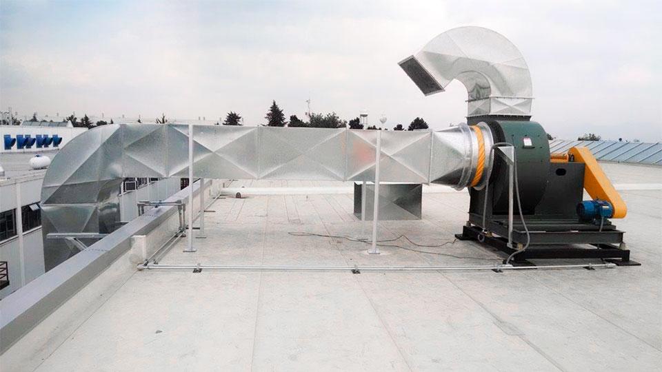 Tipos de ventilación industrial