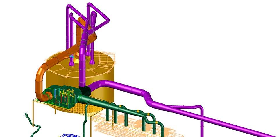 Sistema de extracción de vapores empresa sector metalmecánico