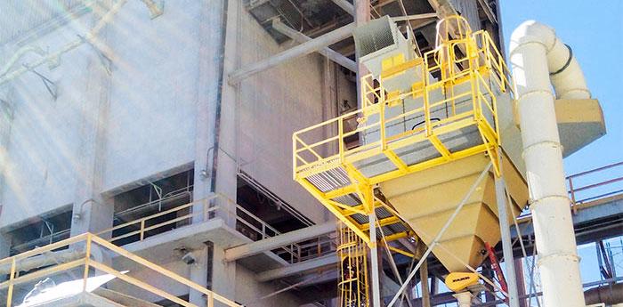 colección de humos de polvo en la industria minera