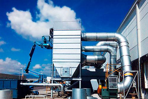 Equipo para la filtración de aire y extracción de contaminantes llamado colector de polvo
