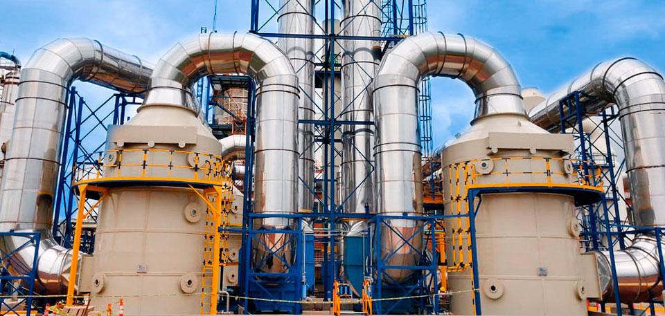 depuración de gases industria química
