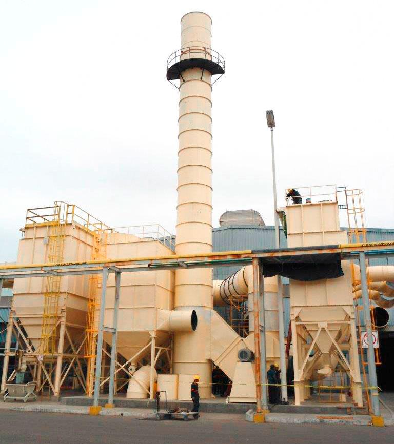 sistema de extracción de humos industriales