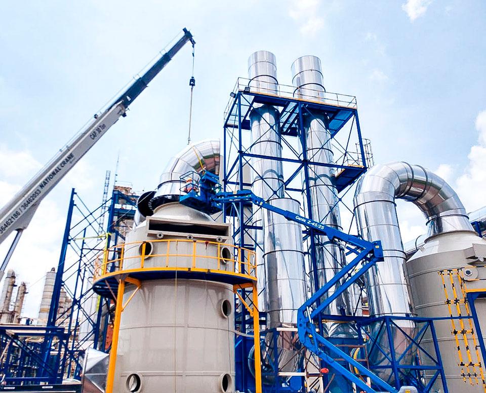 lavador de gases industrial